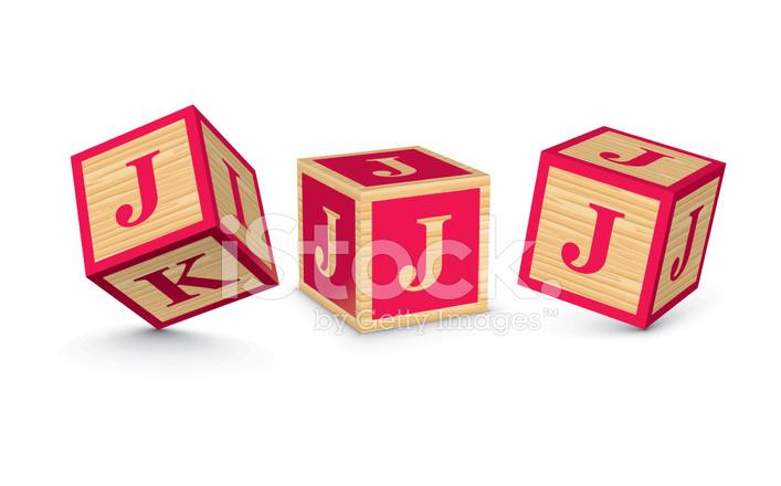 707x440 Vector Letter J Wooden Alphabet Blocks Stock Vector
