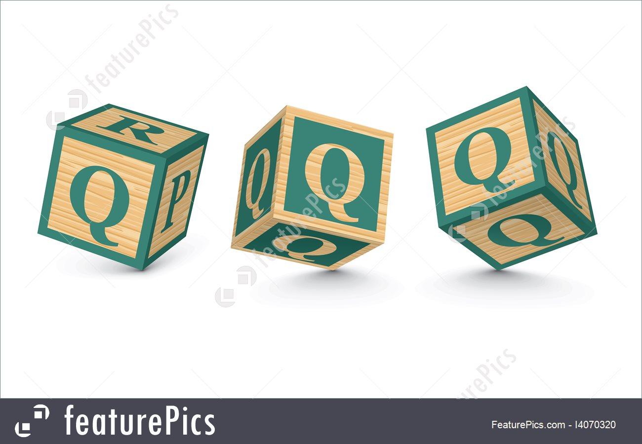1300x900 Vector Letter Q Wooden Alphabet Blocks