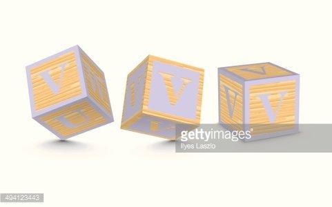481x300 Vector Letter V Wooden Alphabet Blocks Premium Clipart