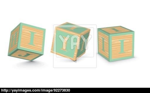 512x318 Vector Letter I Wooden Alphabet Blocks Vector