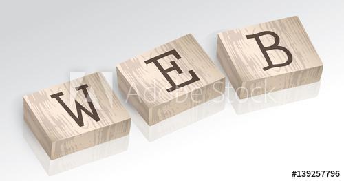 500x263 Word Web Composed From Alphabet Blocks Vector Illustration