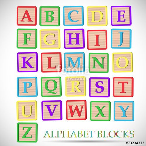 500x498 Alphabet Block Illustration Stock Image And Royalty Free Vector