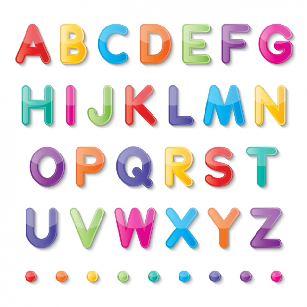 626x626 Colorful Alphabet Vector Free Download