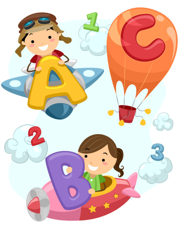 600x776 Cute Child And Alphabet Vector 2. Eps Format Free Vector