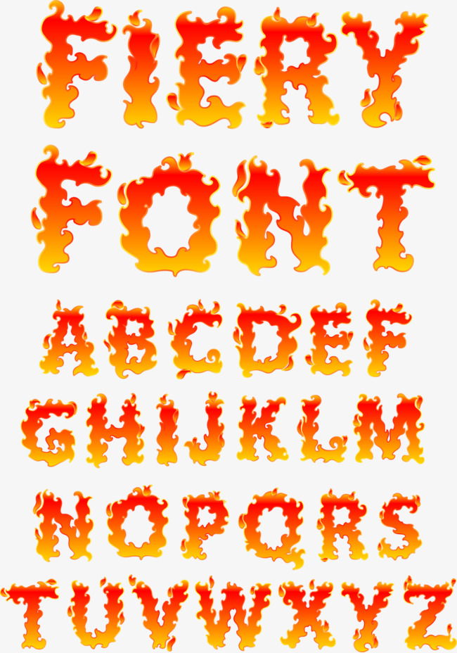 650x928 Flame Alphabet Vector Material, Flame Letter, English Alphabet