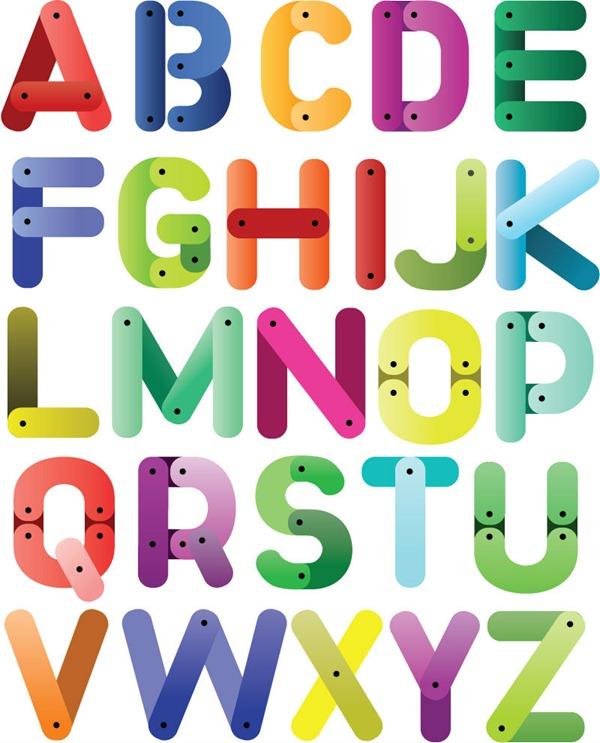 600x743 Color Mosaic Alphabet Vector Graphics My Free Photoshop World