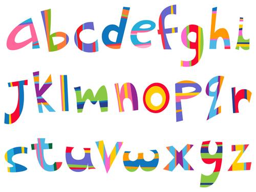 500x375 Different Alphabet Elements Vector Graphics 02 Free Download