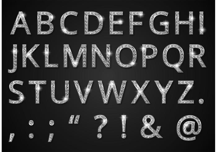 700x490 Free Diamond Alphabet Vector