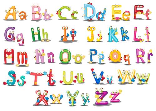 500x354 Funny Cartoon Alphabet Vector Graphics Free Download