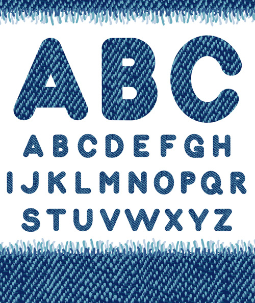500x595 Jeans Fabric Alphabet Vector Graphics Free Vector In Encapsulated