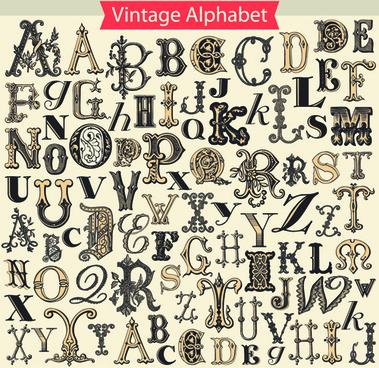 379x368 Retro Newspaper Alphabet Vector Graphics Free Vector In