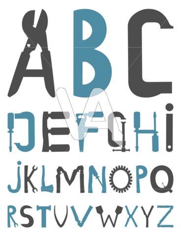 368x480 Alphabet Vector Graphics Alphabet With Tool Clipart