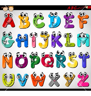 380x400 Capital Letters Alphabet Cartoon Vector By Igor Zakowski On