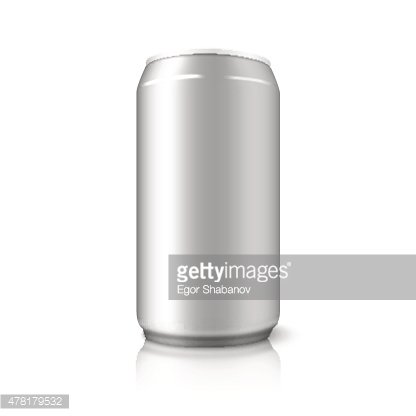 416x416 Blank Vector Aluminium Can, For Different Designs Of Beer, Alcohol