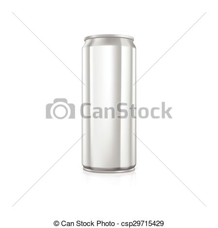 450x470 Blank Aluminium Can. Drawn With Mesh Tool. Fully Adjustable And