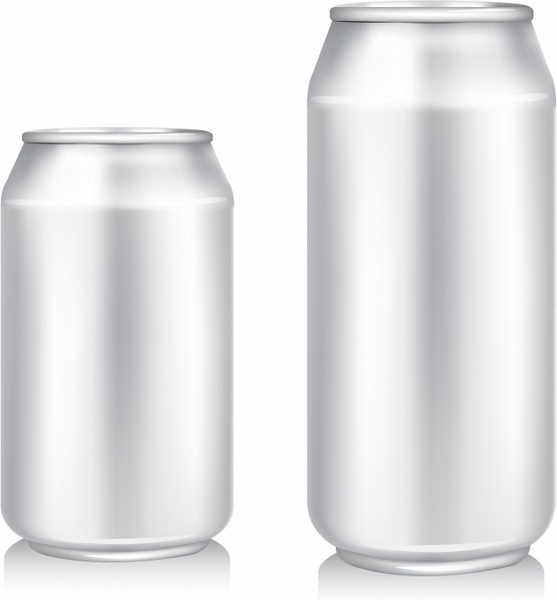 557x600 Blank Beer Can Free Vector In Adobe Illustrator Ai ( .ai