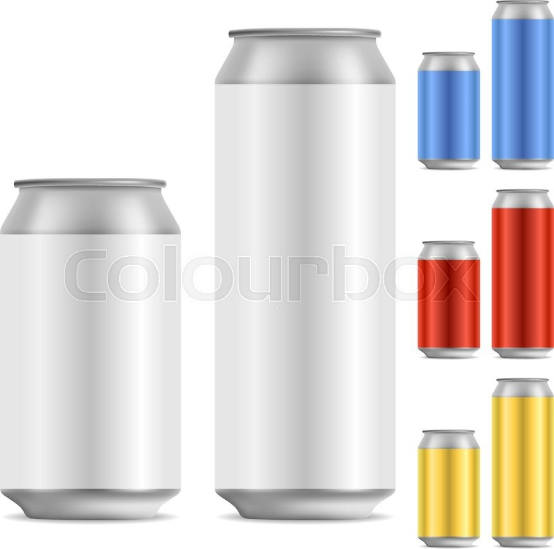 800x793 Blank Beer Of Soft Drink Aluminum Can Vector Template With Color