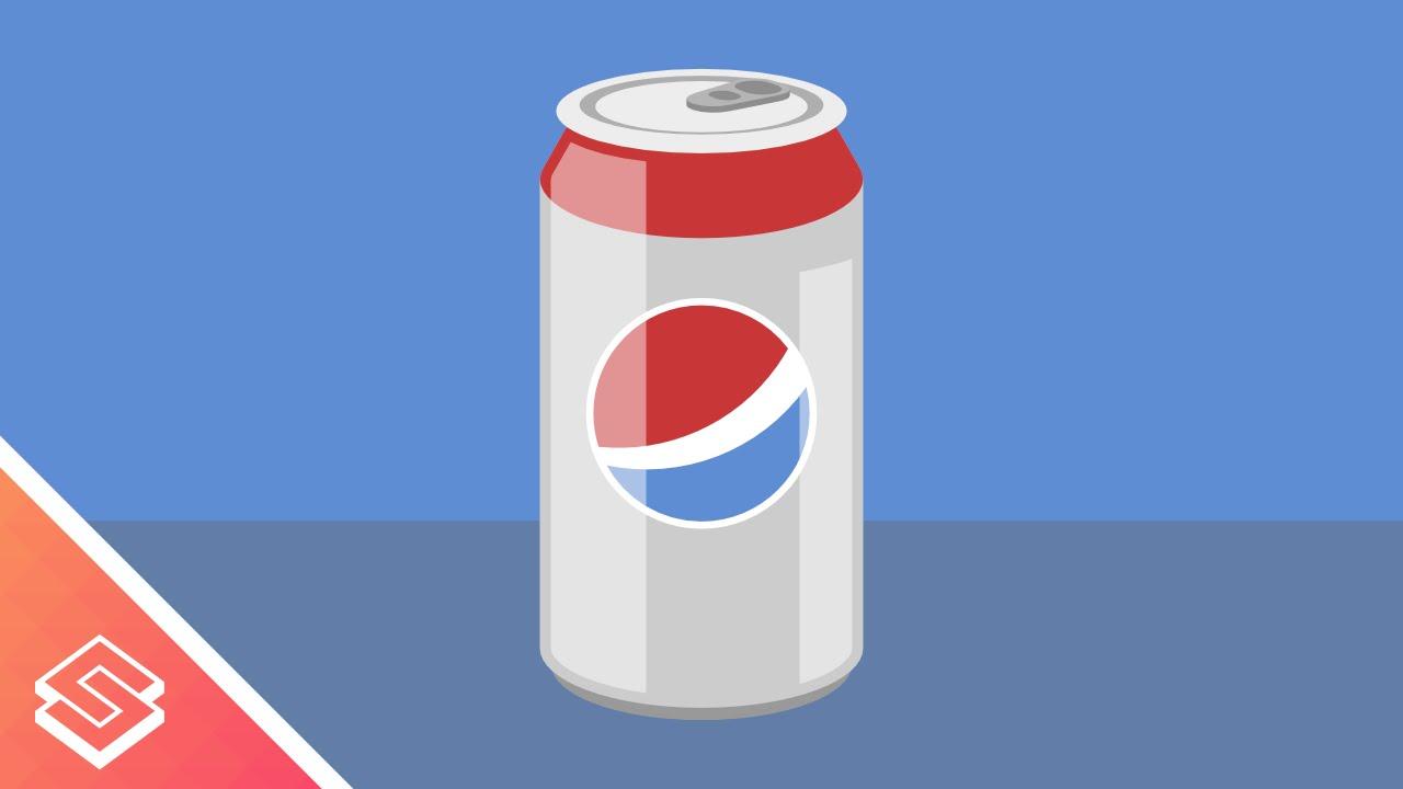 1280x720 Inkscape Tutorial Vector Soda Can