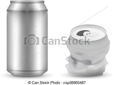 450x335 New And Breaked Aluminum Can Eps10 Vector Vector