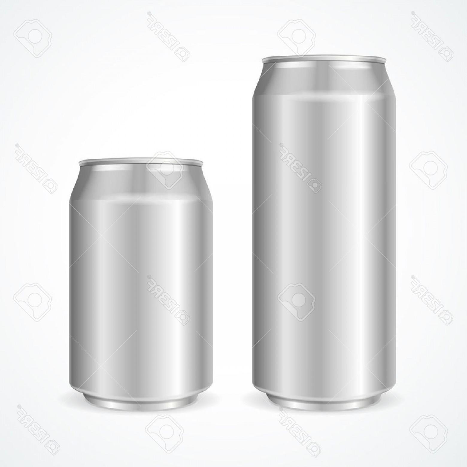 1560x1560 Photostock Vector Aluminum Cans Empty And Ml Vector Illustration