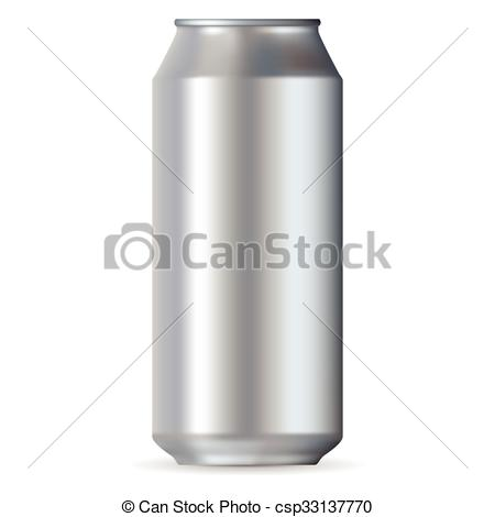 450x470 Realistic Aluminum Can Isolated On A White Background.