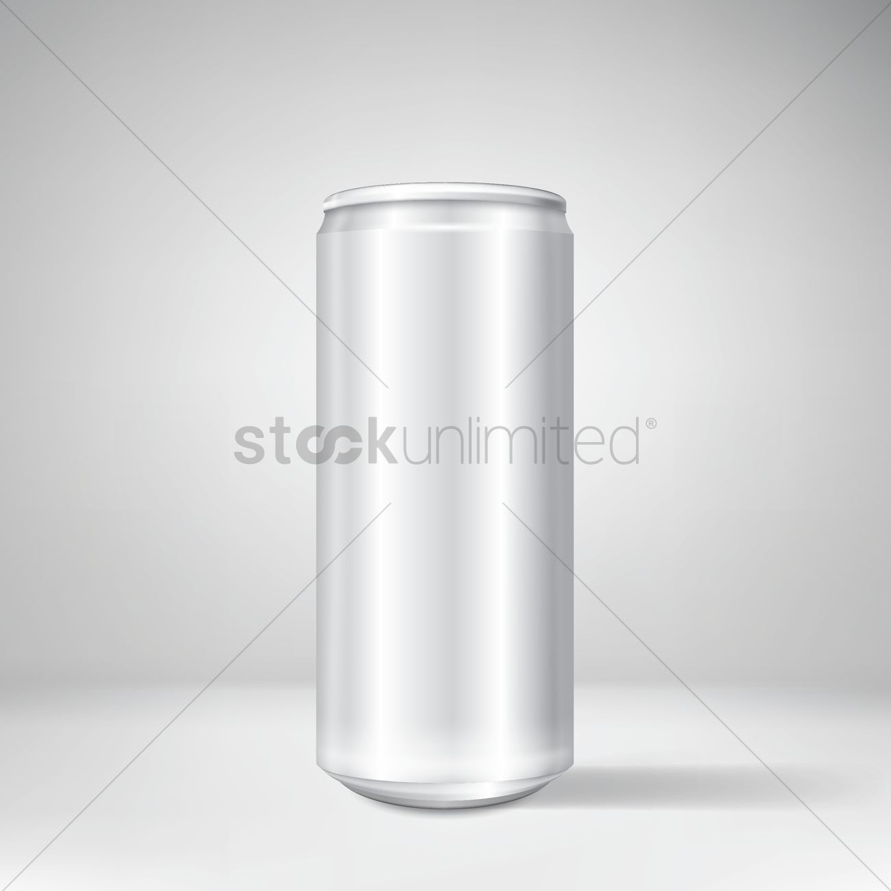 1300x1300 Aluminum Can Vector Image