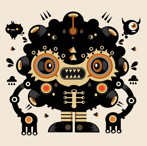 500x497 Amazing Vector Art Character Designs By Mercedes Cerspo 11 Amazing