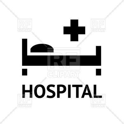 400x400 Hospital Icon On White Background