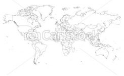 245x150 Map South America Outline Vector Map Of South America With