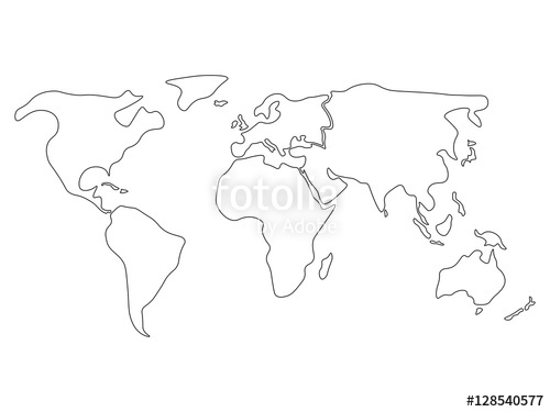 America Outline Vector at GetDrawings.com   Free for ...
