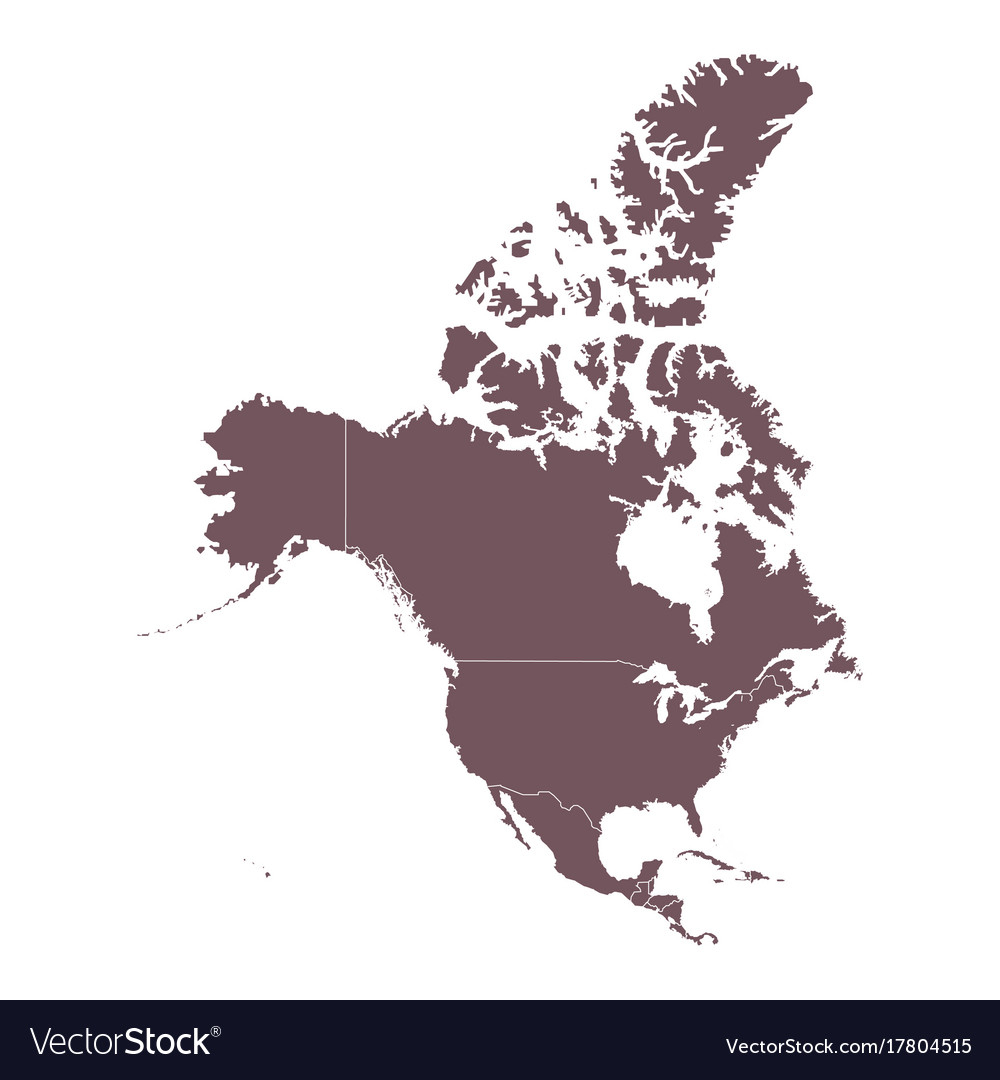 1000x1080 America Continent Map Vector Detailed Map Of North America
