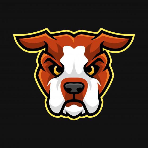 626x626 American Bulldog Head Mascot Or Character Vector Vector Premium