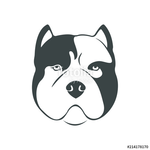 500x500 Portrait Of An American Bull Dog. The American Bully Icon For The