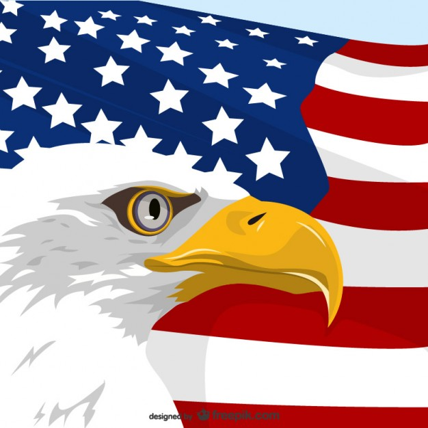 626x626 American Eagle And Usa Flag Vector Free Download