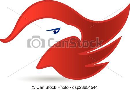 450x313 American Eagle Face Symbol Logo Vector.