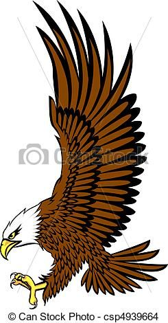 245x470 Bald Eagle And American Flag Download Royalty Free Vector Clipart