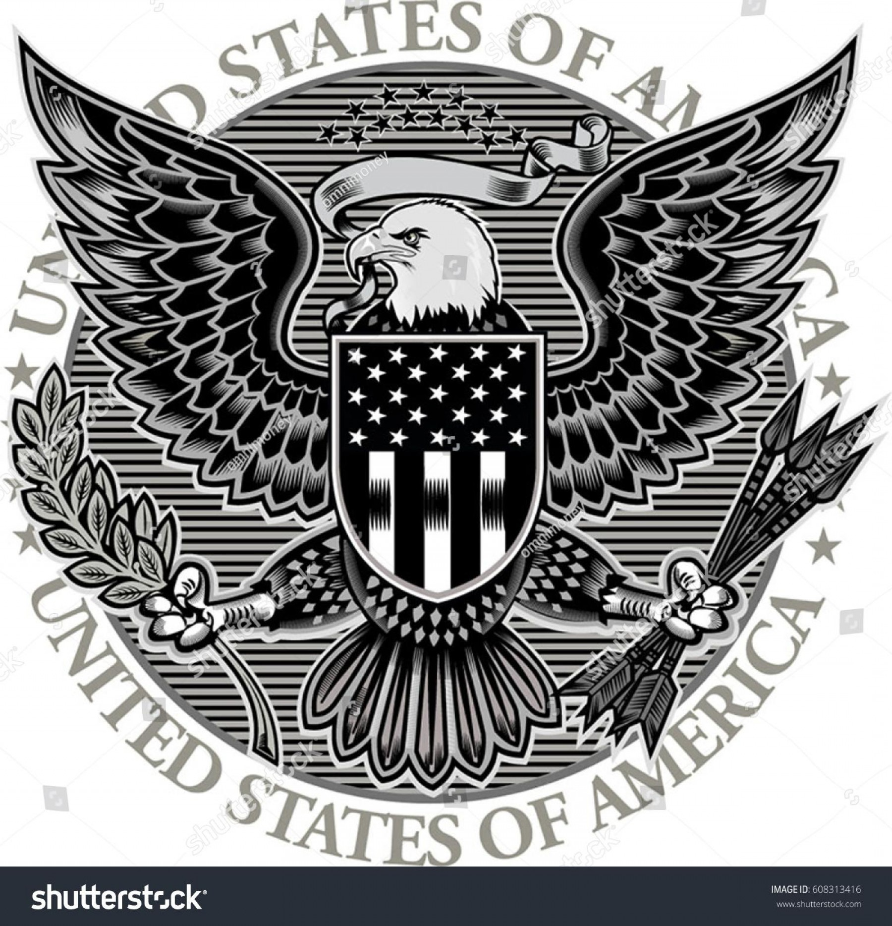 1800x1868 Best Stock Vector American Eagle With Usa Flags Library Arenawp