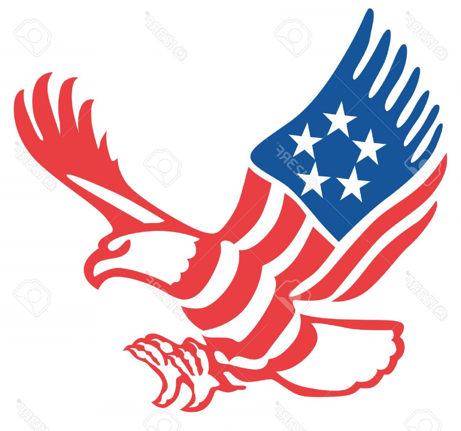 1560x1460 Photostock Vector American Eagle In The Patriotic Colors On The