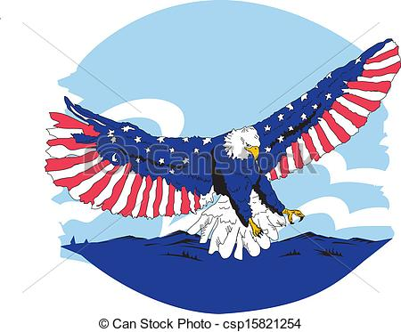 450x373 Red White Amp Blue American Eagle. Wing Spread Vector American Eagle