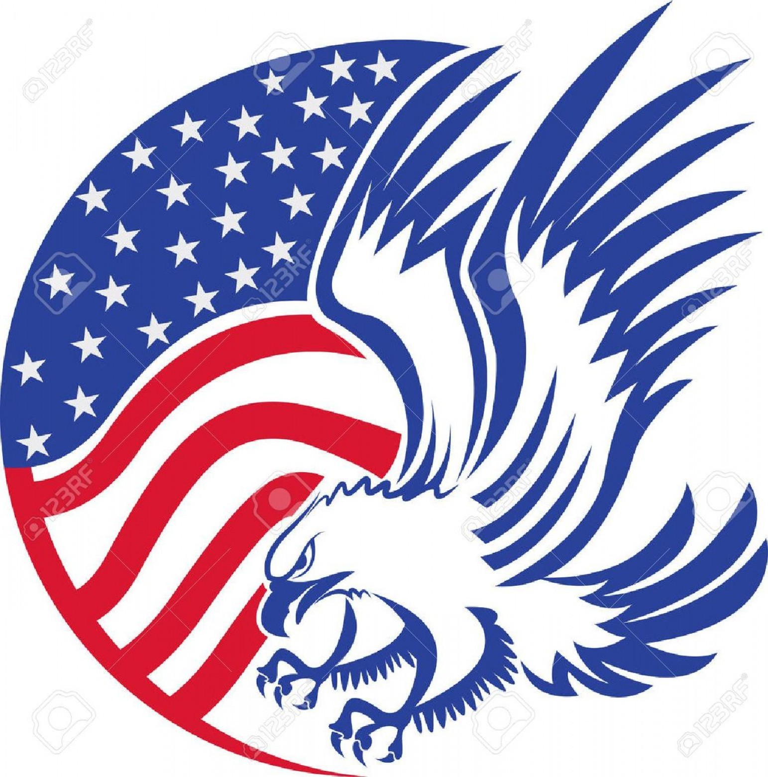 1543x1560 American Bald Eagle Vector Art Shopatcloth
