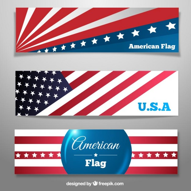 626x626 American Flag Banners Vector Free Download