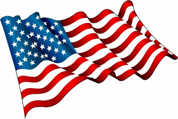 600x402 Flag Of Usa Free Vector In Adobe Illustrator Ai ( .ai