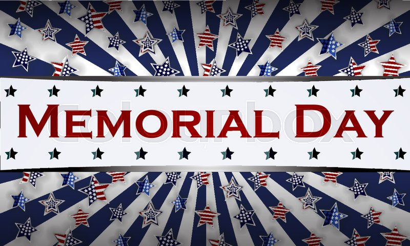 800x480 Happy Memorial Day Background Template. Stars And American Flag