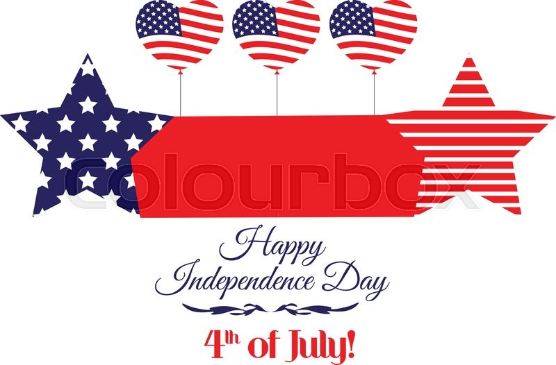 800x526 Independence Day Banner With A Star With The Background Of The