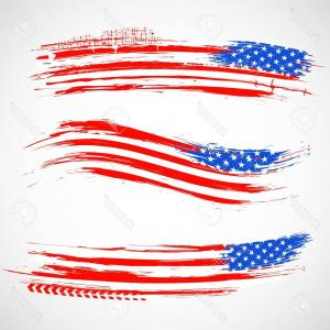 300x300 Photoillustration Of Grungy American Flag Banner For Independence