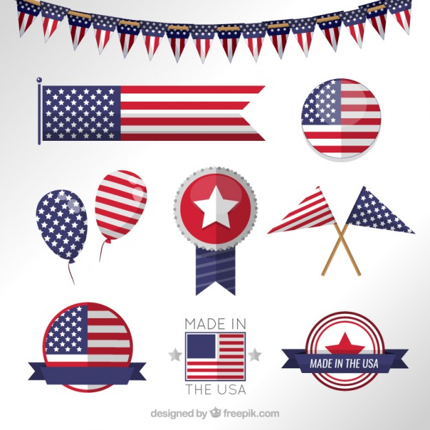 626x626 Usa Flag Banners Vector Free Download