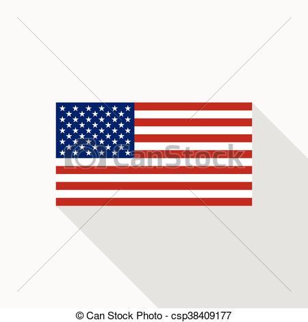 450x470 Usa Flag Vector Flat Icon. Usa National Flag Vector Flat Icon