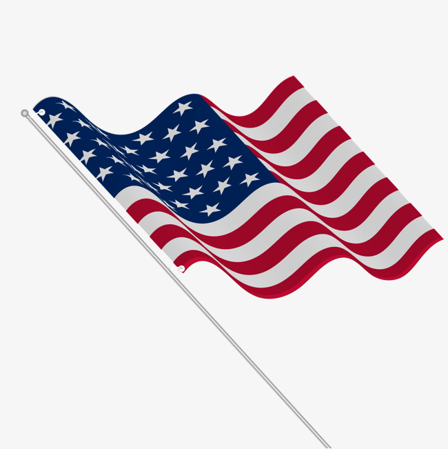 650x651 Vector American Flag, Banner, Flagpole, Decoration Png And Vector