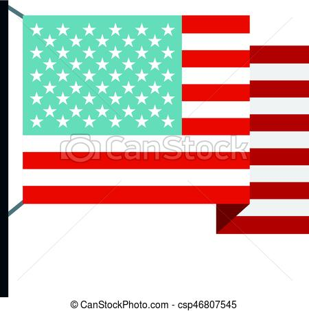 450x452 American Flag Icon Isolated. American Flag Icon Flat Isolated On