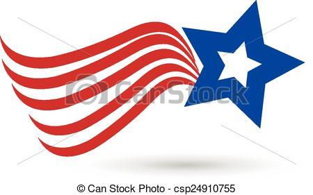 450x281 American Star Flag Icon Logo. American Star Flag Icon Vector